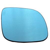 Spiegelglas Ersatzglas Blau beheizbar mit Platte - RECHTS