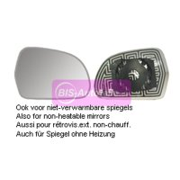 Spiegelglas beheizbar Konvex (Weitwinkel) Rechts Audi...